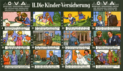 Kinderversicherung  Werbespiel  1929