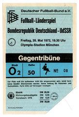 Eroeffnung Olympiastadion Muenchen  Eintrittskarte Laenderspiel  1972