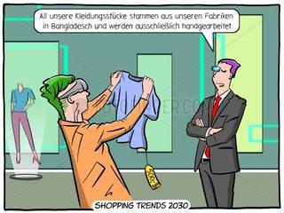 Zukunft Textilindustrie- - Serie der digitale Wahnsinn