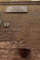 Vicolo De Renzi. Sackgasse in die roemische Innenstadt