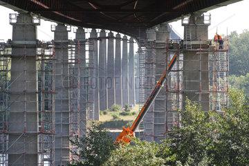 Rade  Deutschland  Sanierung der Rader Hochbruecke
