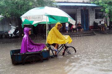 China  Ueberschwemmungen in der Henan Provinz