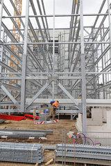 Flensburg  Deutschland  Bau eines Parkhauses fuer Karstadt