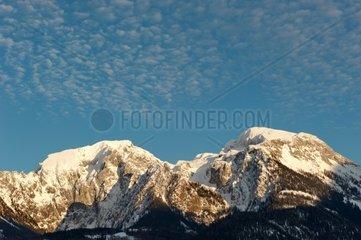 Hoher Goell 2.522m (links) und Hohes Brett 2.338m im Berchtesgadener Land