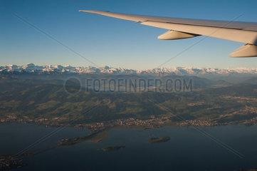 Schweiz  Flug von Singapur nach Zuerich