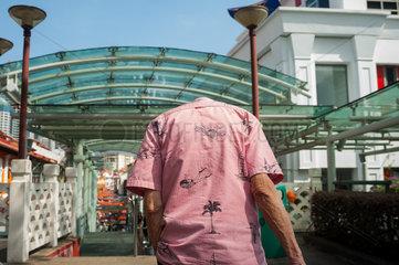 Singapur  Republik Singapur  Kopflos in Chinatown