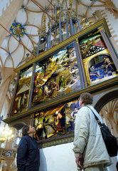 Annaberg-Buchholz  Deutschland  der Bergmaennischen Altar von Hans Hesse