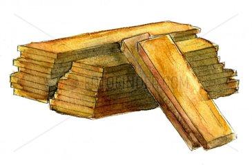 Holz Holzbretter - Serie Hausbau
