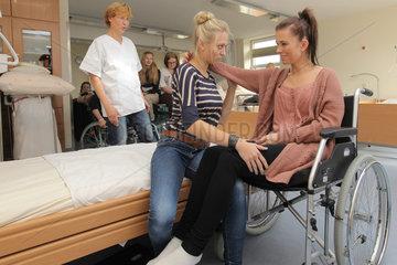 Flensburg  Deutschland  Unterricht im Pflegezentrum der Hannah-Arendt-Schule