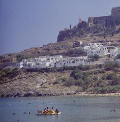 Griechenland  Suedl. Sporaden  Insel Rhodos    Lindos