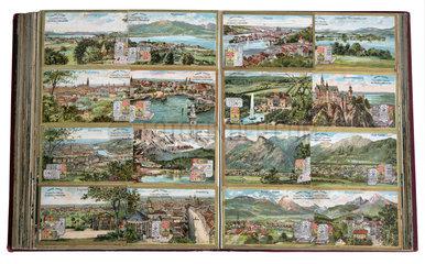 Bayerische Staedte und Seen  Album  Sammelbilder  1899