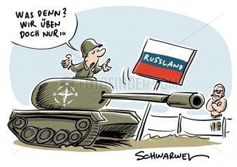 Manoever Saber Strike Militaerische Machtdemonstration in Osteuropa