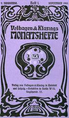 Velhagen & Klasings Monatshefte  1900