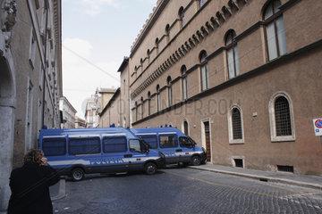 Polizia Strassensperre in Rom