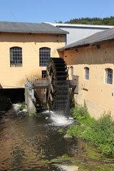 Harrislee  Schleswig-Holstein  Wasserrad der Wassermuehle in Kupfermuehle