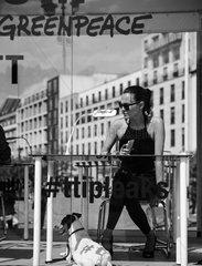 Greenpeace TTIP mobile reading room