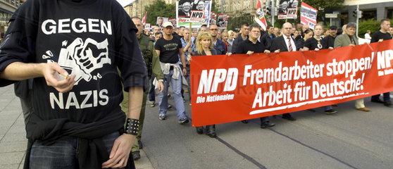 Chemnitz  Deutschland  NPD Demo