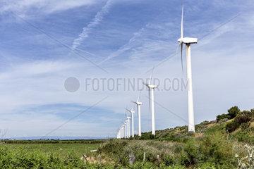 Windpark in der Camargue  Frankreich.