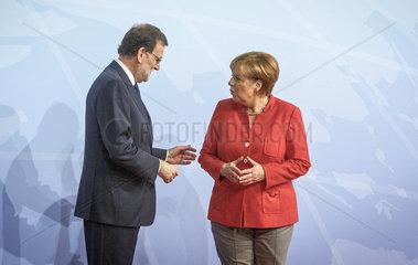 Mariano Rajoy  Ministerpraesident des Koenigreichs Spanien  Angela Merkel (CDU)  Bundeskanzlerin