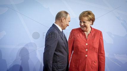 Wladimir Putin  Praesident der Russischen Foederation und Angela Merkel (CDU)  Bundeskanzlerin  CDU-Vorsitzende