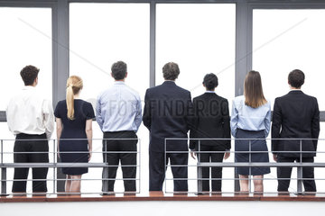 Team of business professionals  rear view