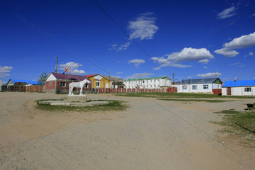 Dorf in der Mongolei