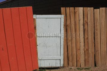 Zaun in der Mongolei