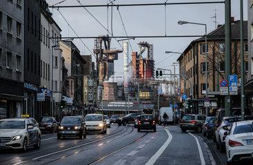 ThyssenKrupp Stahlwerk in Duisburg-Bruckhausen  Ruhrgebiet  Nordrhein-Westfalen  Deutschland  Europa