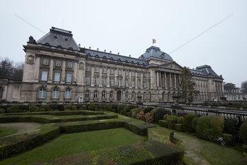 Bruessel  Region Bruessel-Hauptstadt  Belgien - Palais Royal an einem Wintertag.