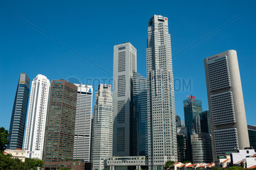 Singapur  Republik Singapur  Wolkenkratzer des Finanzdistrikts