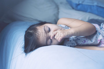 Little girl asleep  portrait