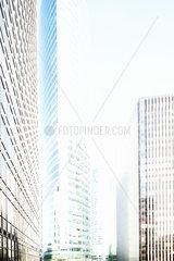 Modern skyscrapers  La Defense  Paris  France