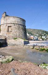 Hafenburg von Alassio in Ligurien