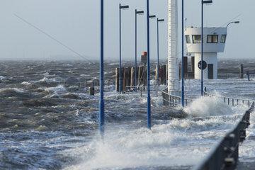 Dagebuell  Deutschland  Sturmflut an der Nordsee