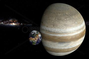 CGI Vidualisierung: Erde und Venus