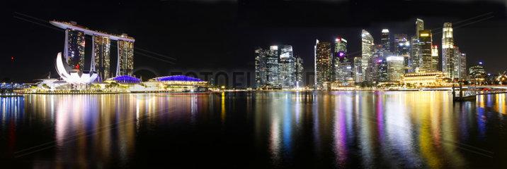 Panorama: Marina Bay Sands  Singapur