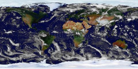 Panorama: Weltkarte