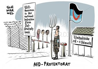 Aktuelle Emnid-Umfrage : AfD staerkste Kraft in Ostdeutschland