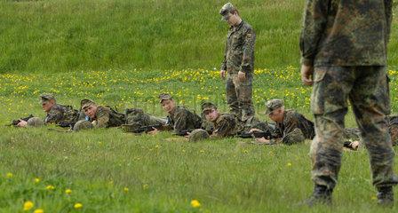 Frankenberg  Deutschland  Rekruten der Grundausbildungskompanie des Fernmeldebatallions 701
