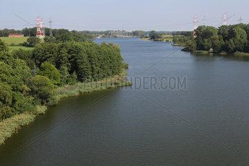Rade  Deutschland  Blick auf den Borgstedter See mit Enge