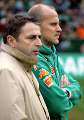 Thomas Schaaf  Trainer  rechts + Klaus Allofs Manager Werder Bremen  links