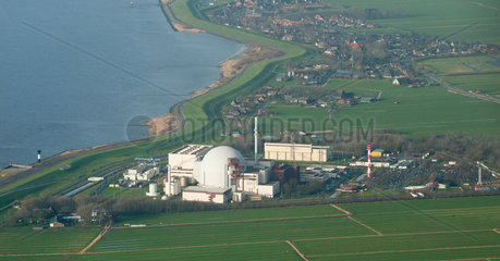 Brokdorf  Deutschland  das Kernkraftwerk Brokdorf an der Unterelbe