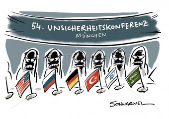 54. Muenchner Sicherheitskonferenz : fast gleiche Themen