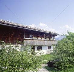 Oberbayern  Kochel  Freilichtmuseum Gentleiten  Hoderer-Hof aus Kochel