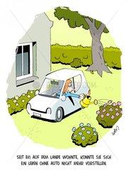 Landleben mit Auto