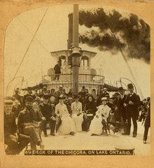 Dampfschiff auf dem Lake Ontario  1894