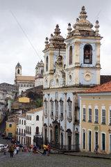 Salvador da Bahia  Brasilien  die Kirche Rosario dos Pretos Pelourinho