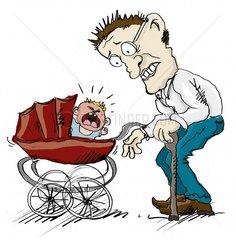 Grossvater und Kind