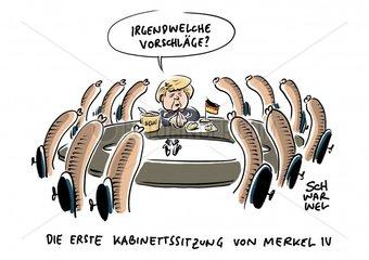 Neue Bundesregierung : Kabinett Merkel IV ist im Kasten
