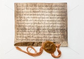 Itzehoe  Deutschland  Faksimile der Stadtrechtssurkunde der Stadt Itzehoe von 1234